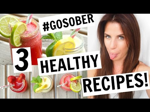 3 HEALTHY SOBER DRINKS RECIPES!