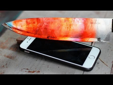 EXPERIMENT Glowing 1000 degree KNIFE VS SMARTPHONE 🔪🔥