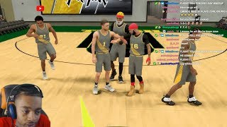 FlightReacts ARGUES W/ Agent 00 & SwantE On NBA 2K19 Proam Then RAGES At Chat For Trolling!