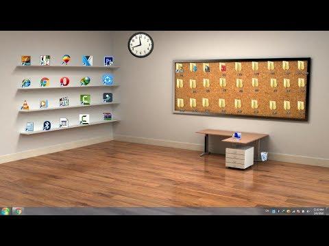 How to make a Beautiful Classic 3D Desktop in Windows [ In Urdu Hindi