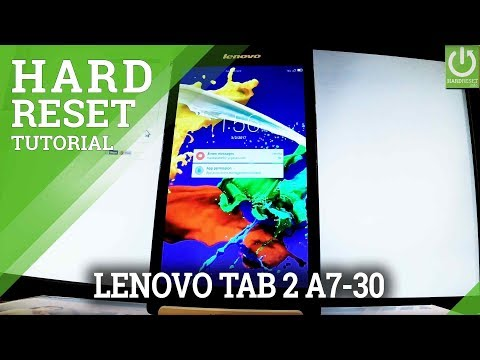 How to Hard Reset LENOVO Tab 2 A7-30  - Unlock Tablet / Format
