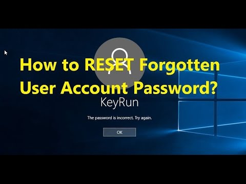 How to Reset your forgotten user account password in windows 8,8.1,10?