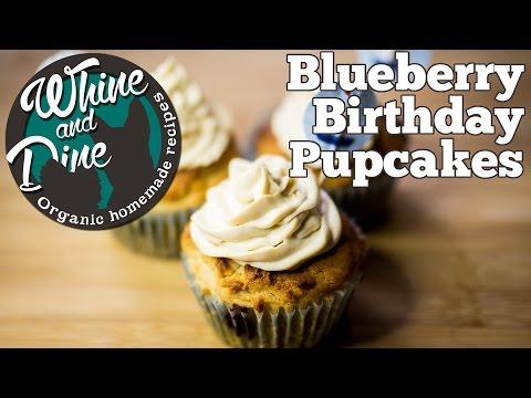 Blueberry Birthday Pupcakes | Dog Cupcakes