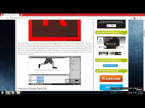 How to safely Download & Install Adobe Flash CS6- for free