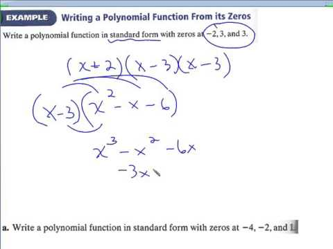 6.2 Writing polynomials in standard and factored form