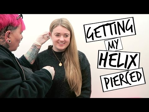Getting My Helix/Cartilage Pierced | Emily Steele