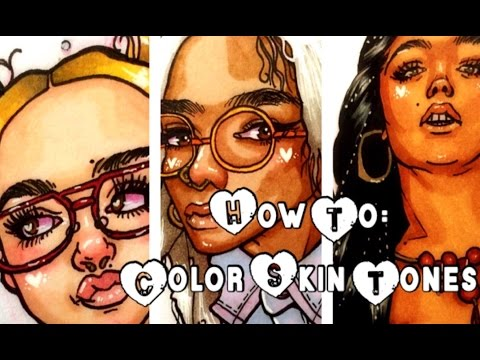How To: Color Skin Tones (Markers)