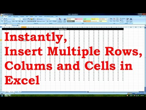 How to INSTANTLY Insert Multiple Rows, Colums and Cells in Excel