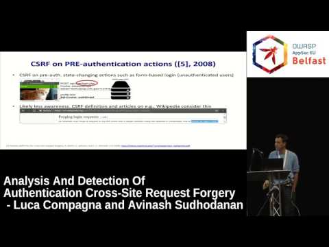 AppSec EU 2017 Analysis And Detection Of Authentication Cross Site Request Forgery by Luca Compagna