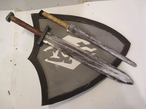 how to make a sword and a shield prop