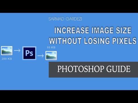 Increase Photo Size without losing Pixels using Photoshop