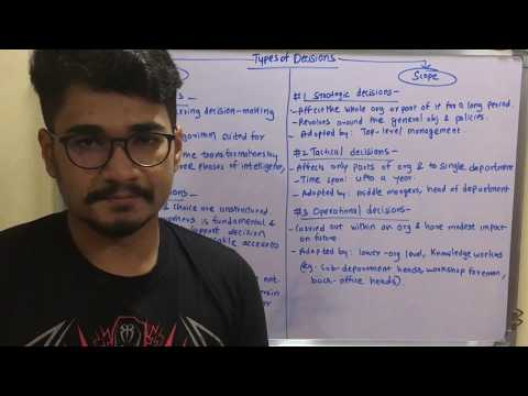 Data Mining & Business Intelligence | Tutorial #32 | Types Of Decisions in BI