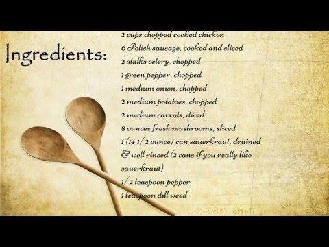 Crock Pot Sauerkraut Soup Recipe