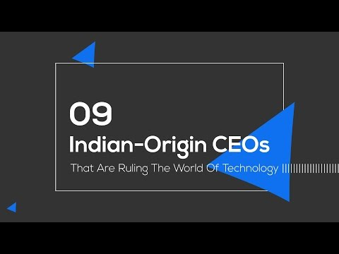 Indian Origin CEOs (9) That Are Ruling The World Of Technology