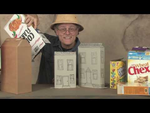How to make cereal box houses