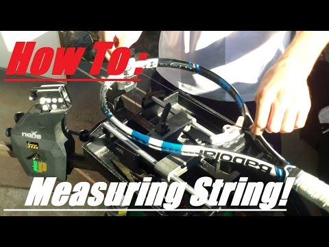 How to Measure Tennis String Perfectly!