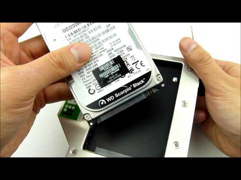 Install HDD in HDD Caddy for Macbook Pro 13