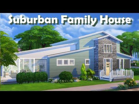 Sims 4 | House Building | Suburban Family House
