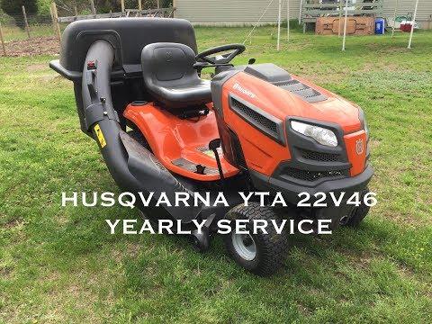 SERVICING YOUR HUSQVARNA RIDING MOWER YTA-22V46