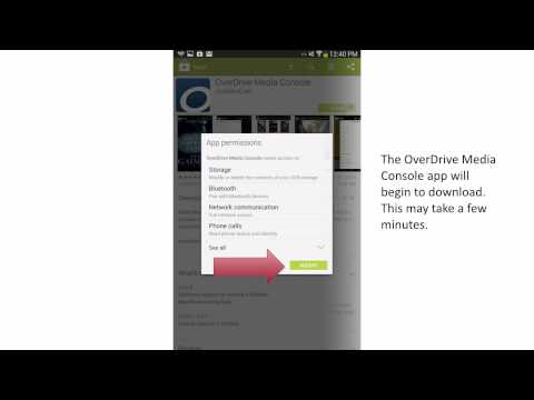 Downloading Overdrive to your Android Tablet or phone