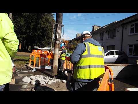 #IrishWater Water meter workers at work in Raheny