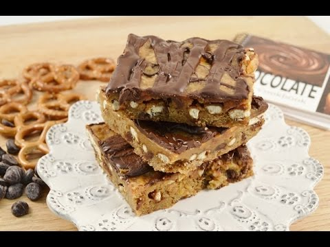 Chocolate Chip Caramel Pretzel Bars Recipe | RadaCutlery.com