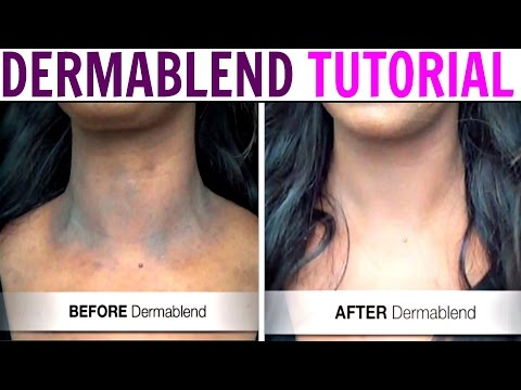Cover Scars, Tattoos, Dark Spots with DERMABLEND  - Best Body Makeup Ever!