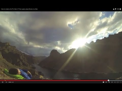 How to create a Go Pro Hero 3 Time Lapse using iMovie on a Mac