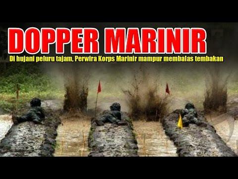 EXTRIM ! Tak Hanya Prajurit, Perwira Marinir pun dihujani peluru tajam