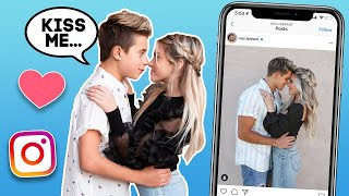 Recreating Famous CELEBRITY COUPLES Photo Challenge **FIRST KISS**💋| Gavin Magnus ft. Coco Quinn