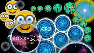 Agar.io Solo Nebulous Minion Destroying Team Agario Mobile 37K+ (Agario Best Moments)