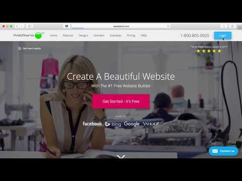 Create A Free Website with WebStarts.com 2018