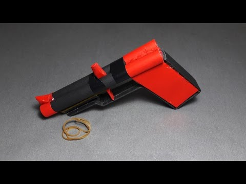 | DIY | How to make a paper '' PANTHER GUN'' that shoots rubber band-Toy weapons-By. Dr. Origami