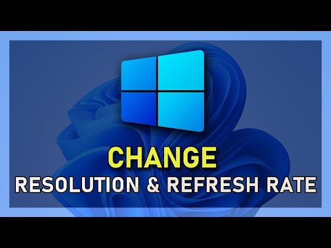 How to change Resolution and Refresh Rate on Windows 10!