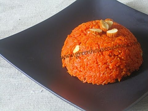 microwave carrot halwa/pudding - low fat recipe