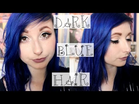 Dying My Hair Dark Blue | Sparks Hair Dye Review | Wolfierikku