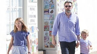 Ben Affleck And The Children Hanging Out In Pacific Palisades
