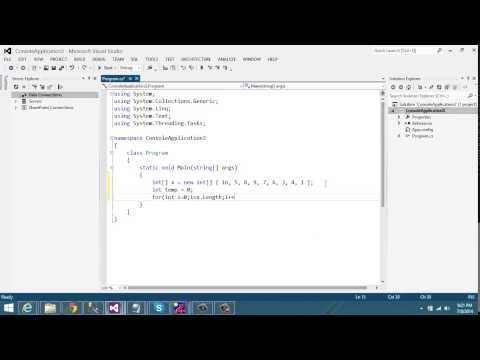 Sort Number without using any methods in C#.Net