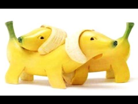 How to Make Banana Decoration   Banana Art   Fruit Carving Banana Garnishes