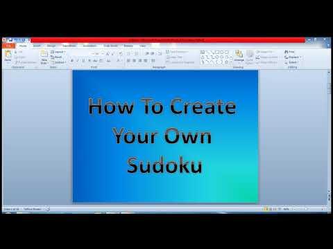 Create Sudoku