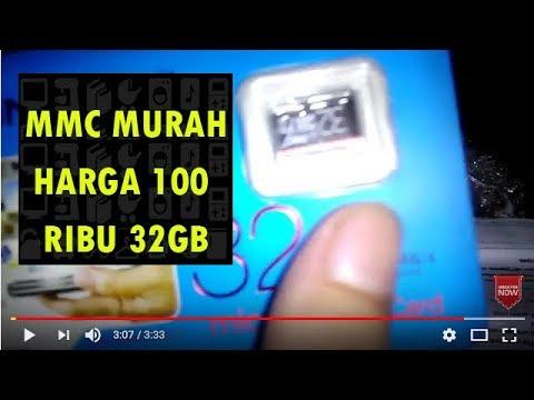 UNBOXING MMC 32GB Kartu Memory Card Murah Cuma100 Ribu Beli Di Online Buat HP (Video Ngak Penting)
