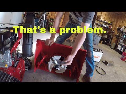 Fixing a TroyBilt snowblower