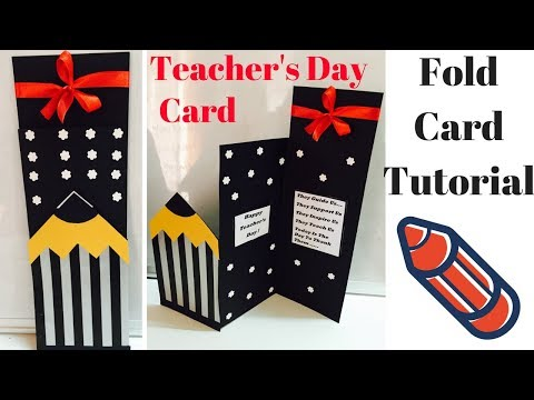 Card for favorite Teacher | Handmade Greeting cards for kids | Greeting Card for Teacher's