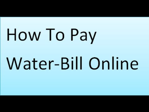 How to pay water bill online