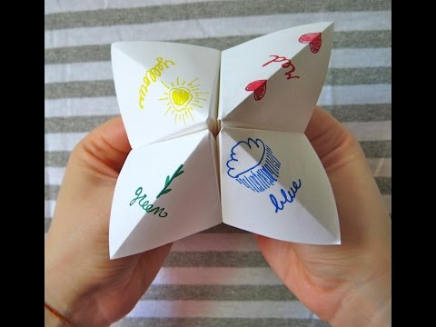 How to make a paper fortune teller - Very Easy!