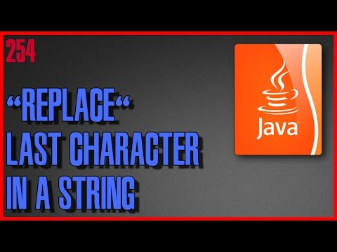 JAVA How to replace last character in a string