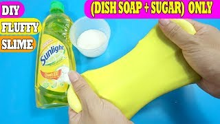 Diy fluffy slime videos how to make slime dish soap sugar ccuart Image collections