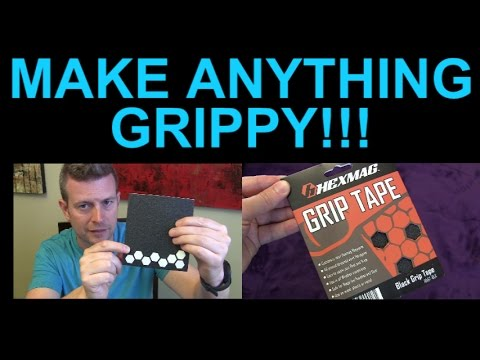 Hexmag Grip Tape Rubber Non Skid Stickers Decals Review Phone Keyboard Camera More
