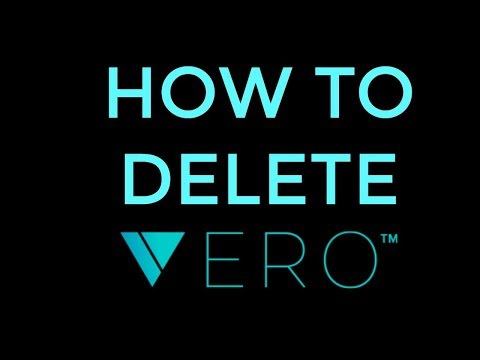 HOW TO DELETE VERO APP - STEP BY STEP