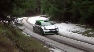 test J.Kopecký - P.Dresler Fabia R5 ,,  na rally Monte Carlo 2018